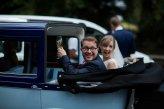 para młoda w drodze na wesele